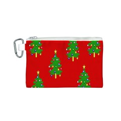 Christmas Trees Canvas Cosmetic Bag (S)