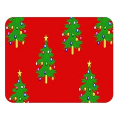 Christmas Trees Double Sided Flano Blanket (Large)