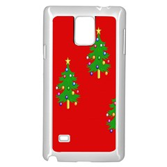 Christmas Trees Samsung Galaxy Note 4 Case (White)
