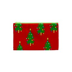 Christmas Trees Cosmetic Bag (xs)