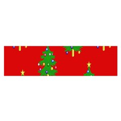 Christmas Trees Satin Scarf (Oblong)