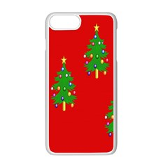 Christmas Trees Apple Iphone 7 Plus White Seamless Case