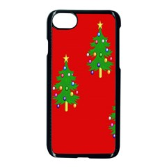 Christmas Trees Apple Iphone 7 Seamless Case (black)