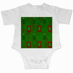 Christmas Trees And Boxes Background Infant Creepers