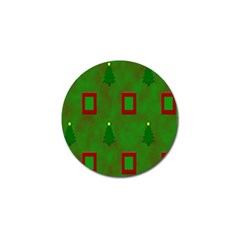 Christmas Trees And Boxes Background Golf Ball Marker (10 pack)