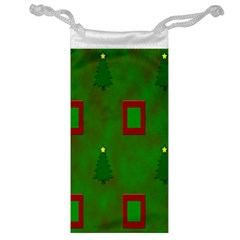 Christmas Trees And Boxes Background Jewelry Bag