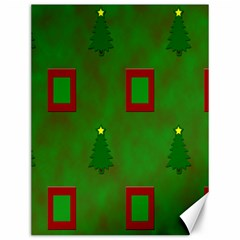 Christmas Trees And Boxes Background Canvas 12  x 16