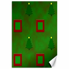 Christmas Trees And Boxes Background Canvas 12  x 18