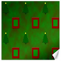 Christmas Trees And Boxes Background Canvas 16  x 16