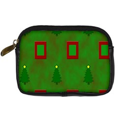 Christmas Trees And Boxes Background Digital Camera Cases