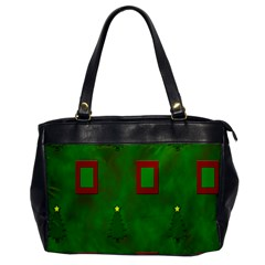 Christmas Trees And Boxes Background Office Handbags