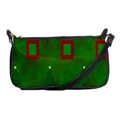 Christmas Trees And Boxes Background Shoulder Clutch Bags