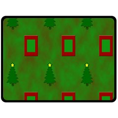 Christmas Trees And Boxes Background Fleece Blanket (Large)