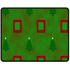 Christmas Trees And Boxes Background Fleece Blanket (Medium)