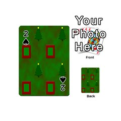 Christmas Trees And Boxes Background Playing Cards 54 (Mini)
