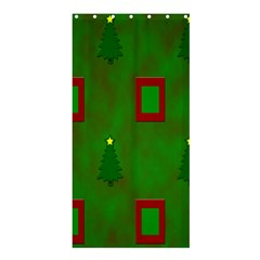 Christmas Trees And Boxes Background Shower Curtain 36  x 72  (Stall)