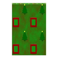 Christmas Trees And Boxes Background Shower Curtain 48  x 72  (Small)