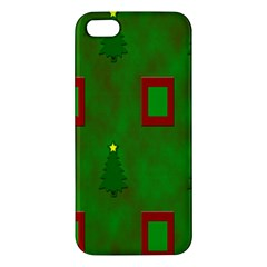 Christmas Trees And Boxes Background Apple iPhone 5 Premium Hardshell Case