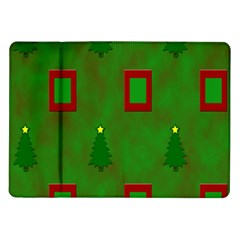 Christmas Trees And Boxes Background Samsung Galaxy Tab 10.1  P7500 Flip Case