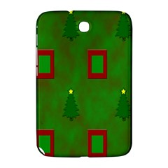 Christmas Trees And Boxes Background Samsung Galaxy Note 8.0 N5100 Hardshell Case
