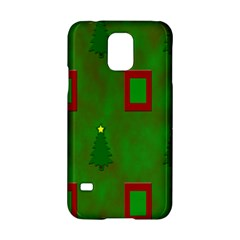 Christmas Trees And Boxes Background Samsung Galaxy S5 Hardshell Case