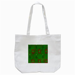 Christmas Trees And Boxes Background Tote Bag (White)