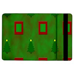 Christmas Trees And Boxes Background iPad Air 2 Flip