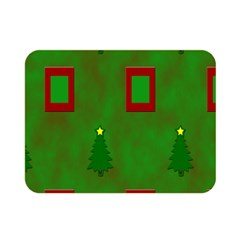 Christmas Trees And Boxes Background Double Sided Flano Blanket (Mini)