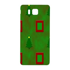 Christmas Trees And Boxes Background Samsung Galaxy Alpha Hardshell Back Case
