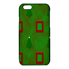 Christmas Trees And Boxes Background iPhone 6/6S TPU Case