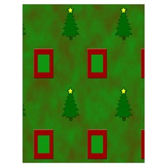 Christmas Trees And Boxes Background Drawstring Bag (Large)