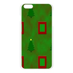 Christmas Trees And Boxes Background Apple Seamless iPhone 6 Plus/6S Plus Case (Transparent)