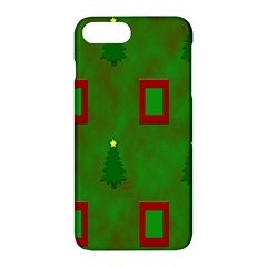 Christmas Trees And Boxes Background Apple Iphone 7 Plus Hardshell Case