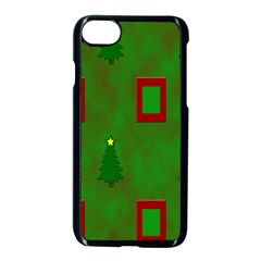Christmas Trees And Boxes Background Apple Iphone 7 Seamless Case (black)