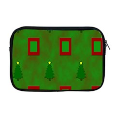 Christmas Trees And Boxes Background Apple Macbook Pro 17  Zipper Case