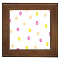 Diamond Pink Yellow Framed Tiles