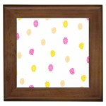 Diamond Pink Yellow Framed Tiles Front