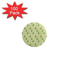 Christmas Wrapping Paper Pattern 1  Mini Magnets (100 pack)