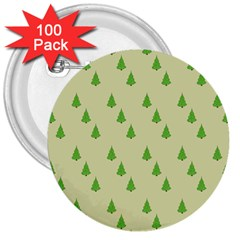 Christmas Wrapping Paper Pattern 3  Buttons (100 pack)