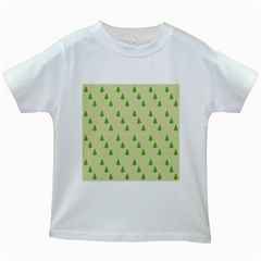 Christmas Wrapping Paper Pattern Kids White T-Shirts