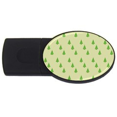 Christmas Wrapping Paper Pattern USB Flash Drive Oval (1 GB)