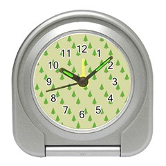 Christmas Wrapping Paper Pattern Travel Alarm Clocks