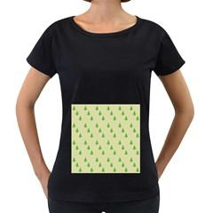 Christmas Wrapping Paper Pattern Women s Loose-Fit T-Shirt (Black)