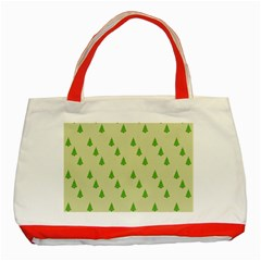Christmas Wrapping Paper Pattern Classic Tote Bag (Red)