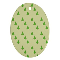 Christmas Wrapping Paper Pattern Oval Ornament (Two Sides)