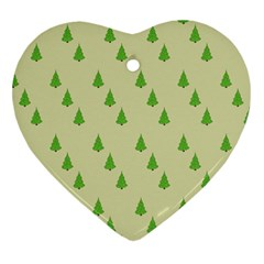 Christmas Wrapping Paper Pattern Heart Ornament (Two Sides)