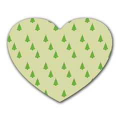 Christmas Wrapping Paper Pattern Heart Mousepads