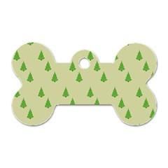 Christmas Wrapping Paper Pattern Dog Tag Bone (One Side)