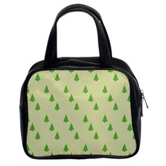 Christmas Wrapping Paper Pattern Classic Handbags (2 Sides)