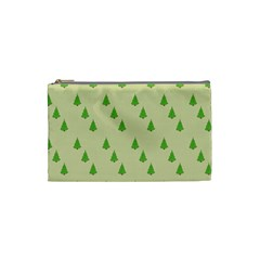 Christmas Wrapping Paper Pattern Cosmetic Bag (Small)